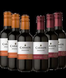 Kit com 6 garrafas de 187ml - Viña Carme...