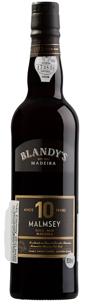 10 Years Old Malmsey Rich  - 500 ml.