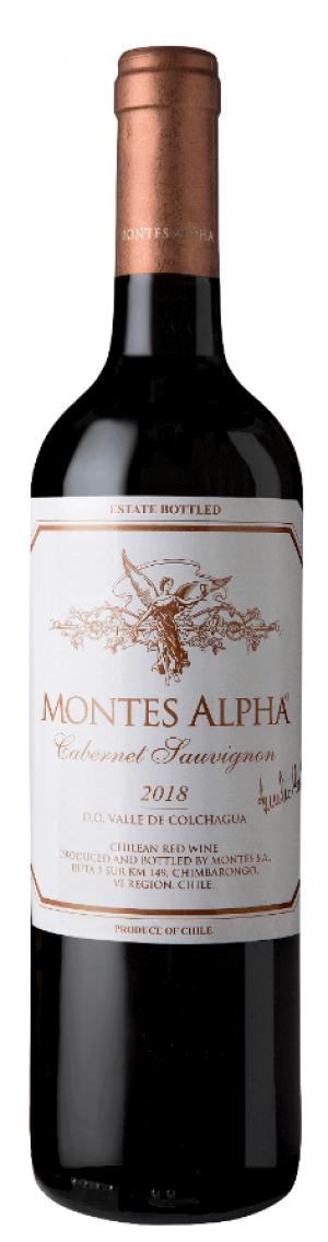 Montes Alpha Cabernet Sauvignon 2018 Vintage Label