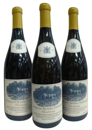 Kit Vertical de 3 garrafas Hamilton Russell Chardonnay Vineyards Vertical safras 2015 2016 2017